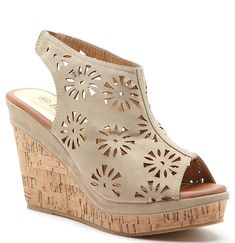 Bucco Cutout Cork Wedge -- You can get additional details at the image link. #womensandals