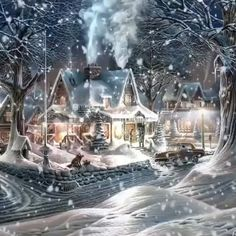 Winter Christmas Scenes, Christmas Scenery, Winter Scenery, Christmas Christmas, Holiday, Merry Christmas Banner, Merry Christmas Everyone, Christmas Decorations, Animated Christmas Pictures