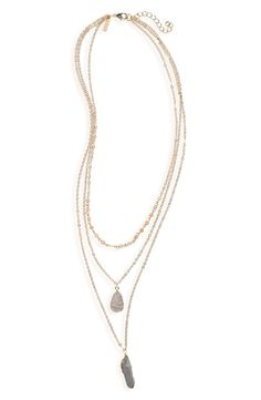 Panacea Layered Pendant Necklace available at #Nordstrom $50