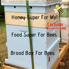 Should you use a queen excluder? It's personal preference but there are beekeeping advantages. The queen excluder goes under your honey collection boxes. Bee Hive Plans, Beekeeping For Beginners, Beekeeping Equipment, Raising Bees, Raising Chickens, Bee Boxes, Bee Hives Boxes, I Love Bees, Bee Farm