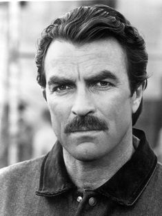 Tom Selleck - yep. He wears a mustache well. (b. 1945) American actor   film producer, best known for his starring role as the private investigator Thomas Magnum in the television series Magnum, P.I. (1980s), which was based in Hawaii. He also plays Police Chief Jesse Stone in an ongoing series of TV movies.