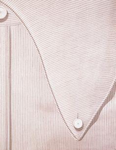 "amare-habeo: ""  Domenico Gnoli (Italian, 1933-1970) Striped Shirt Lapel, 1969 """
