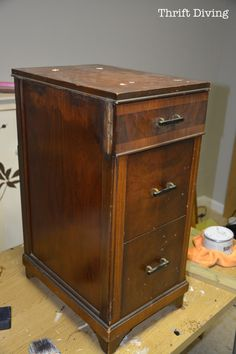 Before & After: Shabby French Bedside Tables