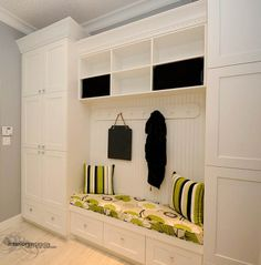 mud room benches | Great bench seat! Mud room cabinets at its finest. -Gem ... | HOUSE I ...