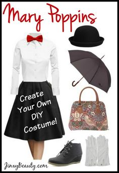 This Mary Poppins DIY Costume looks easy enough - Maybe I'll be Mary Poppins this year!