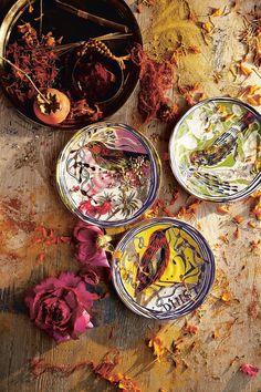 NEW ANTHROPOLOGIE HOME Kitchen Ruan Hoffmann Dreambirds Dessert Plates | eBay