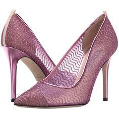 SJP by Sarah Jessica Parker Barbie Women's Shoes (12,800 THB) ❤ liked on Polyvore featuring shoes, pink, genuine leather shoes, sjp shoes, wrap shoes, slip on shoes and pointy toe shoes