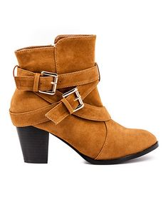 2e53ec3c719f Camel Midona Ankle Boot  zulily  zulilyfinds   LOVE ALL THE STRAPS!