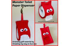 This monster toilet paper holder totally cracks me up. It would be so cute for a kid's bathroom, don't you think? Jill from Creating My Way To Success shows how you can makeone. It …
