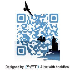 QR Code designé pour l'Office de Tourisme de Brest métropole océane. A retrouver dans le Guide 2012. L Office, Brest, Tourist Information, Qr Codes, Guide, Sheep, Coding, Books, Design