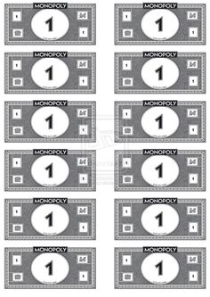 Print your own (Monopoly) money. Free printable templates. Useful ...