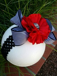 Hey, I found this really awesome Etsy listing at https://www.etsy.com/listing/208079939/red-flower-hair-bowheadband-infant