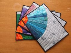 Splendid+Color+Quilted+Placemats+Set+of+4+by+MirembeDesign+on+Etsy