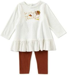 995003f677c Starting Out Baby Girls 12-24 Months Long Sleeve Thanksgiving Footed  Coverall   Legging Set