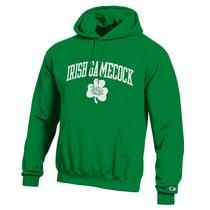 From the USC Bookstore: Green hoodie with screen printed with Irish Gamecock on the front. $36.98