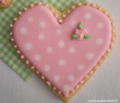 El amor es una galleta de color pastel...
