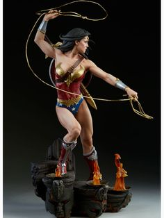 """Sideshow DC Comics Wonder Woman Premium Format, , by DC Comics Collectibles, Sideshow Collectibles DC Comics Wonder Woman Premium Format Figure """"You dare threaten a daughter of Themyscira """" By the goddess Sideshow is proud to present . Gal Gadot, Wonder Woman, Figure Drawing Reference, Toy Art, 3d Prints, Sideshow Collectibles, Figure Model, Anime Figures, Comic Character"""