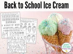 Back to School Ice Cream Fun with Names