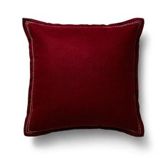 Wool Felt Cushion - Deep Red - Collect Living