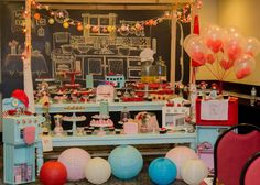Tema de festa: Brincando de casinha - Crescer | Temas Chef Party, Festa Party, Table Decorations, Birthday, Kids, Master Chef, Amanda, Party Ideas, Cooking