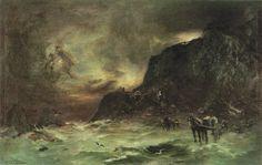 Petrus van der Velden (1837-1913), Storm at Wellington Heads, c. 1908