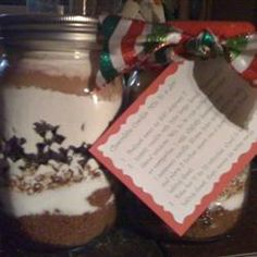 Chocolate Cookie Mix in a Jar Allrecipes.com