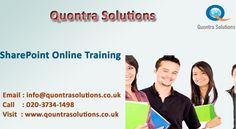 Quontra Solutions provides SharePoint training by Real time Industry experts. SHAREPOINT is having good demand in the market. Our SharePoint online training Instructors are very much experienced and highly qualified and dedicated.  Our SHAREPOINT online training program is job oriented. After completion of SharePoint training with us you should be able to work on any kind of project. After completion of SharePoint online training our dedicated team will be supporting you.