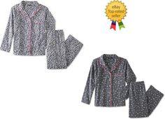 3234a3d4c2 Joe Boxer Womens Flannel Pajama Shirt Pants 2 piece Set size M L NEW https