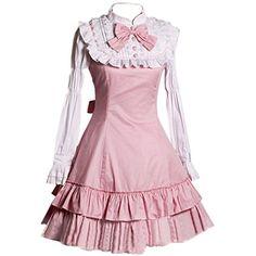 Partiss Damen Langaermel Suess Gothische Ruffles Knielang Lolita Kleid Abendkleid Ballkleid Cosplay Kostueme Partiss http://www.amazon.de/dp/B016WD2V50/ref=cm_sw_r_pi_dp_d1Wjwb0D5D7Q2