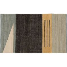 Moody, tonal florals burst forth on hand-tufted black wool rug in dramatic fashion. Chevron Rugs, Geometric Rug, Striped Rug, Modern Area Rugs, Floral Rug, Contemporary Rugs, Rugs On Carpet, Carpets, Coding