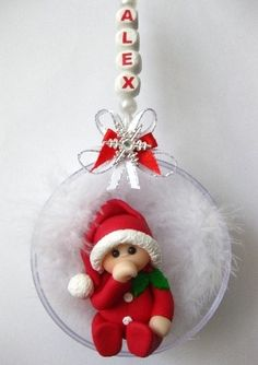 Baby's First Christmas Bauble. Adorable! (Red)