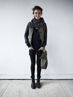 Tights go with everything. Great look from Maison Scotch over at Scotch Soda.