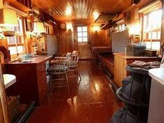Image result for old caboose interior