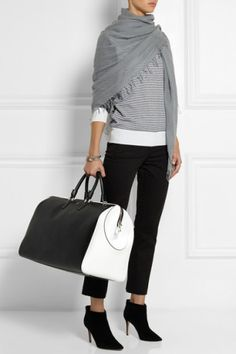Serapian | Evolution two-tone textured-leather weekend bag | NET-A-PORTER.COM, Where would you tote this? http://keep.com/serapian-evolution-two-tone-textured-leather-weekend-bag-net-a-portercom-by-dalabooh/k/1sFi6EgBDL/