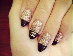 Love the Chanel nail art design ♡