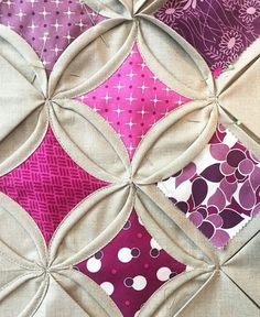 Pink Cathedral Window Quilt