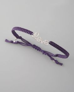 Pave Love Cord Bracelet
