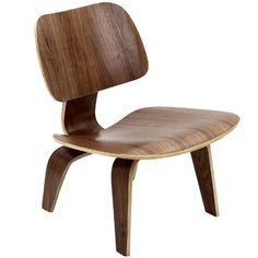 Plywood Lounge Wood Chair in Walnut # EEI-510-WAL