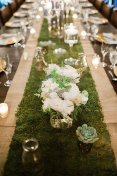 Moss runner: http://www.stylemepretty.com/florida-weddings/homestead/2015/04/09/romantic-wedding-at-the-cooper-estate/ | Photography: Shea Christine - http://www.sheachristine.com/