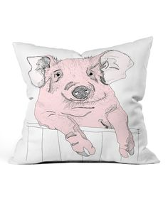 Another great find on #zulily! Casey Rogers Piggywig Throw Pillow by DENY Designs #zulilyfinds