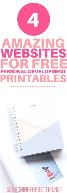 4 Personal Development Websites For Free Printables & Tools. Perfect timing to find these!! Right at the start of#2018. I LOVED these websites full of#freeself help#printables. Seriously SO Much free content that's helped me#organizemy#life. There's amazing step-by-step#templatesfor your mental health too.#selfcare#selflove#goals