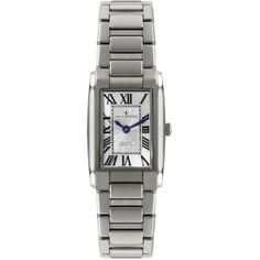 Dreyfuss & Co Women's Seafarer Stainless Steel Rectangular Watch ,... found on Polyvore