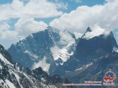 View to Iskander (5120m) and Admiralteets (5090 m) peaks from Ak-Tubek pass (4390m)