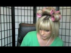 ▶ How I style my hair (2013)- big and voluminous ,requested tutorial - YouTube Bob using velcro rollers and lots of teasing.