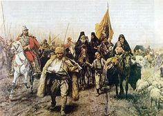 "Paja Jovanovic: ""Serbian Migrations."" 1896."