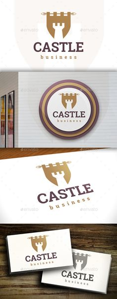 Castle Flag Logo by BossTwinsArt Package Three color version: Color, greyscale and single color. The logo is 100% resizable. You can change text and colors very ea