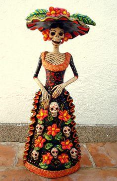 catrina tradicional!! | Hermosa catrina tradicional con vest… | Flickr