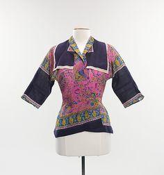 Blouse  Valentina  (American, born Russia, 1899–1989)    Date:      ca. 1940  Culture:      American  Medium:      wool