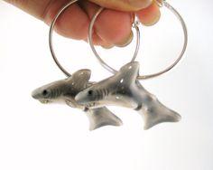 Great White Shark Earrings  Shark Jewelry by SpotLightJewelry, $21.95