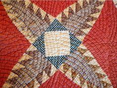 "VINTAGE QUILTS | Antique Quilt, Pineapple Cactus, 61"" by 78"" | Vintage Quilts"